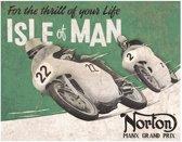 Metalen Retro Bord Norton Isle Of Men