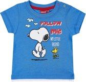 Snoopy-T-shirt-met-korte-mouw-blauw-maat-3-6-mnd