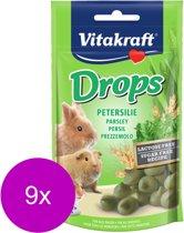 Vitakraft Knaagdier Drops - Knaagdiersnack - 9 x Peterselie Lactose Vrij