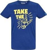 Fortnite T-shirt met korte mouw - blauw - Maat S