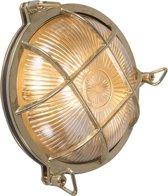 QAZQA Nautica - Plafondlamp en wandlamp - 1 lichts - D 100 mm - Goud/messing