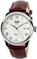 Klassiek Heren Horloge – Leren Band - Geschenkdoosje -Polshorloge
