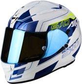 Scorpion Integraalhelm EXO-510 Galva Pearl White/Blue-XL
