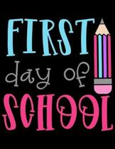 First Day Of School: Weekly Homework Organizer Elementary, Middle and High School Academic Planner