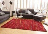 Hoogpolig modern vloerkleed Chic - rood 160x230 cm