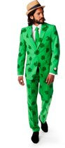 OppoSuits Patrick - Mannen Kostuum - Groen - Feest - Maat 50