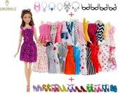 Poppen kleding/kleertjes -  Geschikt voor Barbie - Set van 30 items
