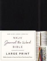 NKJV, Journal the Word Bible, Large Print, Hardcover, Black, Red Letter Edition