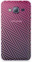 Galaxy J3 (2016) Hoesje Wavy Pink