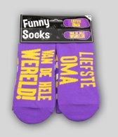 Funny sokken - Liefste oma - One size