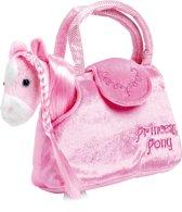 Knuffeldier Pony Paulina in tas
