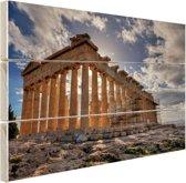 Parthenon van Athene Hout 160x120 cm - Foto print op Hout (Wanddecoratie) XXL / Groot formaat!