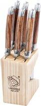 Laguiole Style de Vie Steakmessen Premium Line - 1,8 mm Wood ABS 6 Stuks