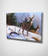 Snow Deer - Painting Canvas