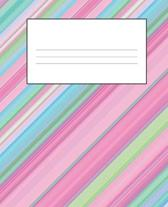 Pink Composition Notebook: Primary Ruled Notebook Lined School Journal - 110 Pages - 7.5 x 9.25'' - Children Kids Girls Boys Teens Women Wide Rule