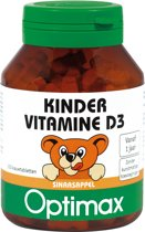 Optimax Kinder Vitamine D3 100 kauwbeertjes - Vitaminen