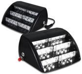 18 LED Dashboard flitser wit licht