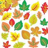 Foam stickers herfst bladeren - knutselspullen voor kinderen - scrapbooking verfraaiing om te maken en versieren kaarten decoraties en knutselwerkjes (180 stuks)