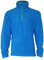 Campri Micro Fleece Pully met 1/4 rits - Sporttrui - Heren - Maat M - Blauw