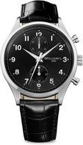 William L. 1985 WLAC02NRCN horloge heren - zwart - edelstaal