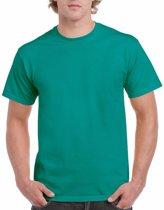 Jadegroen katoenen shirt voor volwassenen L (40/52)