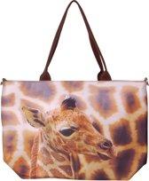 Handtas groot giraffe-