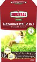 Gazonherstel graszaad + mest 2-IN-1 - 20 m² - set van 2 stuks