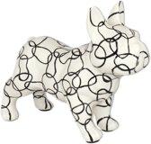 Franse Buldog Jack spaarpot | hond - wit met cirkels | Pomme pidou