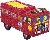 """Brandweerauto pinata - Feestdecoratievoorwerp - One size"""