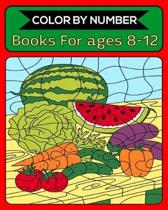Color By Number Books For ages 8-12: 50 Unique Color By Number Design for drawing and coloring Stress Relieving Designs for Adults Relaxation Creative