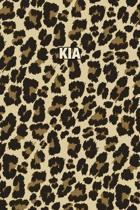 Kia: Personalized Notebook - Leopard Print (Animal Pattern). Blank College Ruled (Lined) Journal for Notes, Journaling, Dia