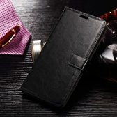 Cyclone cover zwart wallet case hoesje Alcatel One Touch Pixi 4 (6)