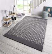 Design vloerkleed Twist - grijs/crème 140x200 cm