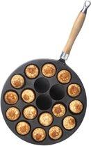 Poffertjespan - Zwart gietijzer - Voccelli