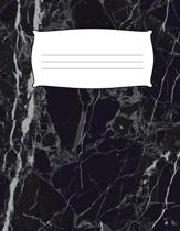Kids Black Marble Primary Journal Composition Notebook