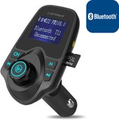 Carkit Adapter Bluetooth FM Transmitter,  Auto Radio   5 in 1 met 4 Music Play Modes /  Hands-free Bellen / Draadloos / TF Kaart / USB Auto Lader carkit / USB Output 1.5 inch LCD Display / Flash Drive / Muziek / AUX Input /  FM Transmitter