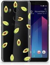 HTC U11 Plus TPU-siliconen Hoesje Avocado