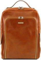 Tuscany Leather Bangkok leren laptop rugzak Cognac TL141793