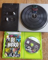 Xbox 360 dj hero 1 plus draaitafel