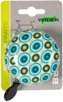 Widek Ding Dong - Fietsbel - 60 mm - Art Collection Retro - Blauw / Groen