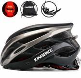 KW® Fietshelm Zwart Grijs met ingebouwde verlichting | Smart Helm LED verlichting | Verstelbaar L/XL (59-63 cm) | Wielren / Mountainbike Helm