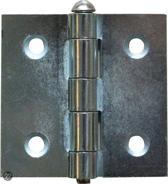 Qlinq Scharnier met Vaasknop Vierkant - Gebronsd - 75 x 75 mm
