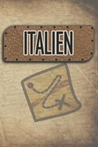 Italien: Reisetagebuch, Notizbuch oder Urlaubsplaner mit Platz auf 120 wei�en linierten Dot Line Seiten zum Eintragen von Spr�c
