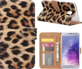Xssive Hoesje voor Samsung Galaxy J4 PLUS 2018 - Book Case Luipaard Print