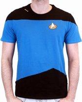 Merchandising STAR TREK - T-Shirt NEXT GENERATION Blue Uniform (M)