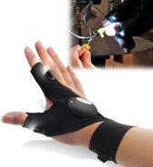 Handschoenen met verlichting - handschoen met 2 led lampjes - handig bij klussen op donkere plekken