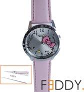 Horloge Hello Kitty roze + extra batterij + doosje
