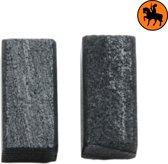 Koolborstelset voor Black & Decker frees/zaag SR410E - 5x5x10mm