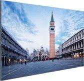 Stadsplein Venetie Aluminium 60x40 cm - Foto print op Aluminium (metaal wanddecoratie)