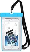 MMOBIEL Waterdichte Telefoon Hoes (BLAUW) - Waterproof Bag - Case - Pouch - Universeel - Geschikt voor alle Smartphones - tot 6 Inch - Volledig Transparant